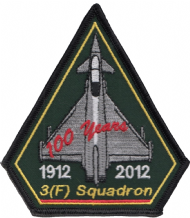 No. 3 (F) Squadron Royal Air Force RAF Centenary Spearhead Embroidered Patch